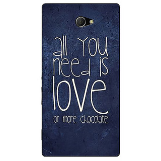 EYP Love Quote Back Cover Case For Sony Xperia M2 311328