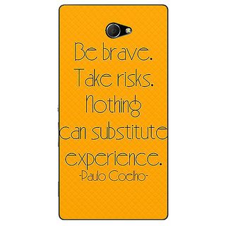 EYP Quote Back Cover Case For Sony Xperia M2 311354