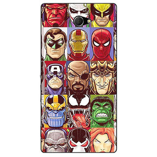 EYP Super Heroes and Villains Back Cover Case For Sony Xperia M2 311401