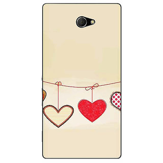 EYP Hearts Back Cover Case For Sony Xperia M2 Dual 321406