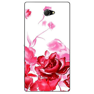 EYP Floral Pattern Back Cover Case For Sony Xperia M2 Dual 321410