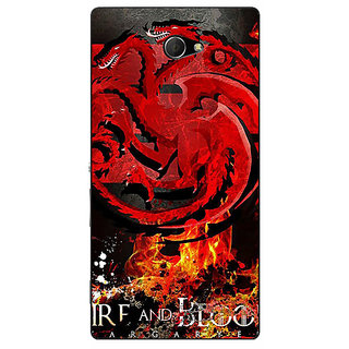 EYP Game Of Thrones GOT Targaryen Back Cover Case For Sony Xperia M2 311531