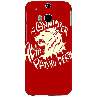 EYP Game Of Thrones GOT House Stark  Back Cover Case For HTC One M8 Eye 330123