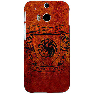 EYP Game Of Thrones GOT House Targaryen  Back Cover Case For HTC One M8 Eye 330151