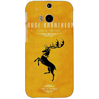 EYP Game Of Thrones GOT House Baratheon  Back Cover Case For HTC One M8 Eye 330172