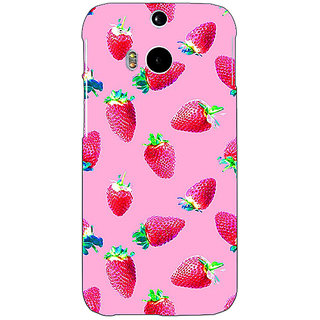 EYP Strawberry Pattern Back Cover Case For HTC One M8 Eye 330203
