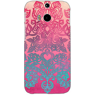 EYP Princess Pattern Back Cover Case For HTC One M8 Eye 330229