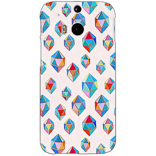 EYP Diamonds of Dreams Pattern Back Cover Case For HTC One M8 Eye 330251