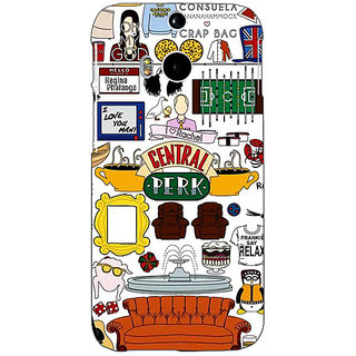 EYP FRIENDS Back Cover Case For HTC One M8 Eye 330450