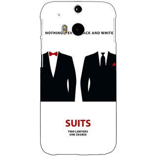 EYP SUITS Harvey Spector Mike Ross Back Cover Case For HTC One M8 Eye 330490