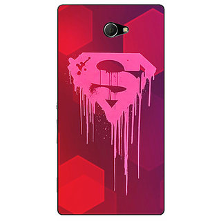 EYP Superheroes Superman Back Cover Case For Sony Xperia M2 Dual 320380