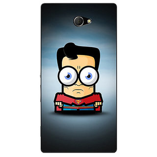 EYP Big Eyed Superheroes Superman Back Cover Case For Sony Xperia M2 Dual 320397