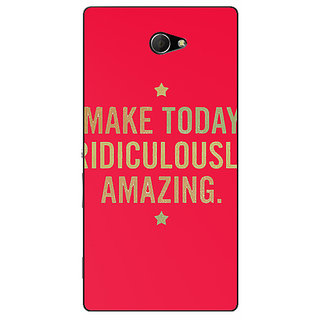 EYP Quotes Beautiful Back Cover Case For Sony Xperia M2 Dual 321191