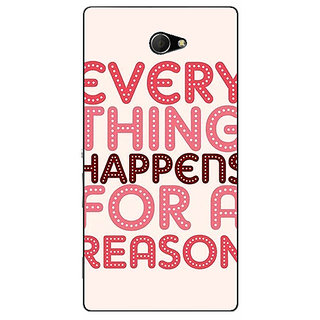 EYP Good Quote Back Cover Case For Sony Xperia M2 Dual 321201