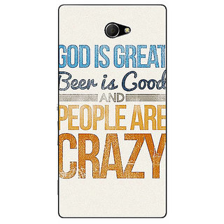 EYP Beer Quote Back Cover Case For Sony Xperia M2 Dual 321215