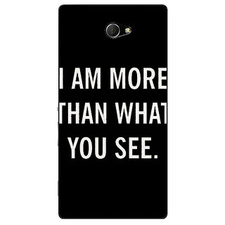 EYP Quote Back Cover Case For Sony Xperia M2 Dual 321230