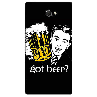EYP Beer Quote Back Cover Case For Sony Xperia M2 Dual 321251