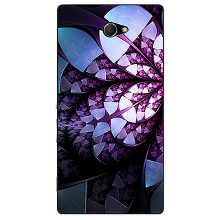 EYP Abstract Flower Pattern Back Cover Case For Sony Xperia M2 Dual 321505