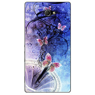 EYP Abstract Butter Fly Pattern Back Cover Case For Sony Xperia M2 Dual 321510