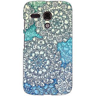 EYP Floral Blue Pattern Back Cover Case For Moto G (1st Gen) 130228