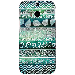 EYP Aztec Girly Tribal Back Cover Case For HTC One M8 Eye 330076