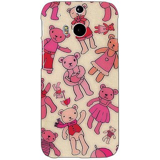 EYP Teddy Pattern Back Cover Case For HTC One M8 Eye 330263