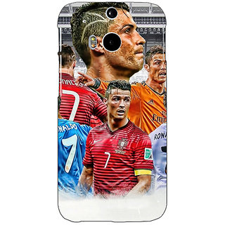 EYP Cristiano Ronaldo Real Madrid Back Cover Case For HTC One M8 Eye 330310