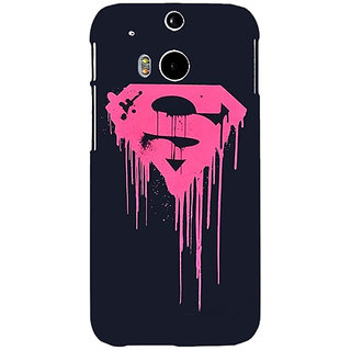 EYP Superheroes Superman Back Cover Case For HTC One M8 Eye 330379