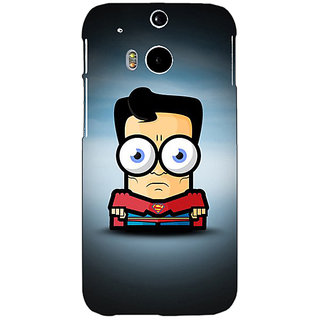 EYP Big Eyed Superheroes Superman Back Cover Case For HTC One M8 Eye 330397