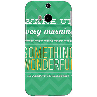 EYP Quotes Something Wonderful Back Cover Case For HTC One M8 Eye 331157