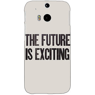 EYP Future Quote Back Cover Case For HTC One M8 Eye 331205