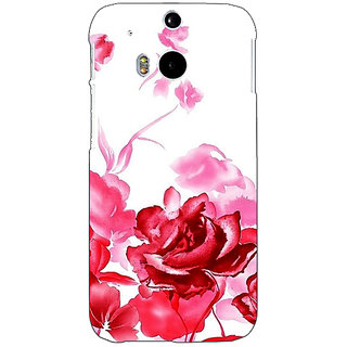 EYP Floral Pattern Back Cover Case For HTC One M8 Eye 331410