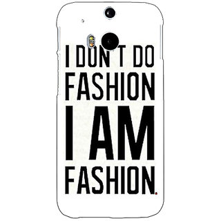 EYP Fashion Quote Back Cover Case For HTC One M8 Eye 331428