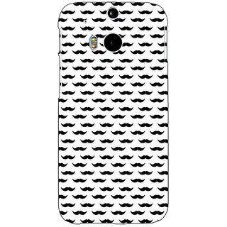 EYP Moustache Back Cover Case For HTC One M8 Eye 331448