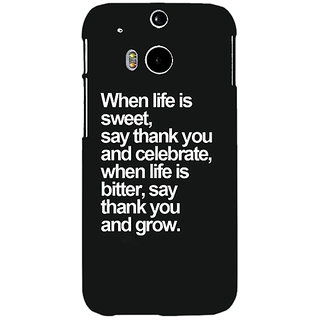 EYP Quote Back Cover Case For HTC One M8 Eye 331473