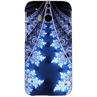 EYP Abstract Snow Flake Pattern Back Cover Case For HTC One M8 Eye 331503