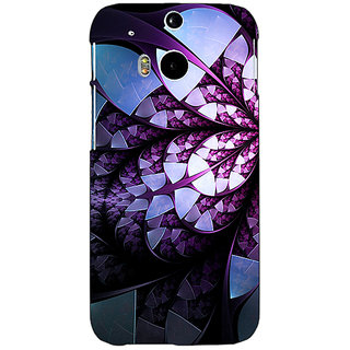 EYP Abstract Flower Pattern Back Cover Case For HTC One M8 Eye 331505