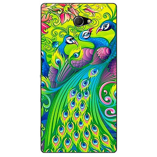EYP Paisley Beautiful Peacock Back Cover Case For Sony Xperia M2 Dual 321596