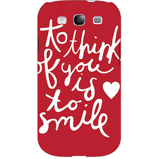 EYP Quotes Smile Back Cover Case For Samsung Galaxy S3 51170