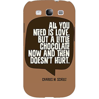 EYP Chocolate Love Quote Back Cover Case For Samsung Galaxy S3 51306
