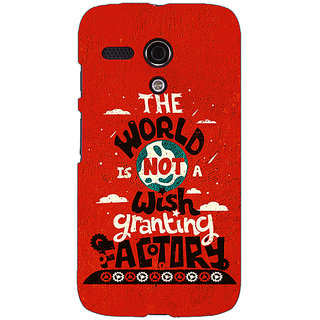 EYP TFIOS Wish Granting Factory  Back Cover Case For Moto G (1st Gen) 130113