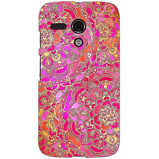 EYP Hot Floral  Pattern Back Cover Case For Moto G (1st Gen) 130241