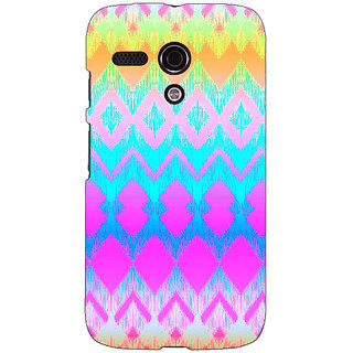 EYP Psychdelic Triangles Pattern Back Cover Case For Moto G (1st Gen) 130248
