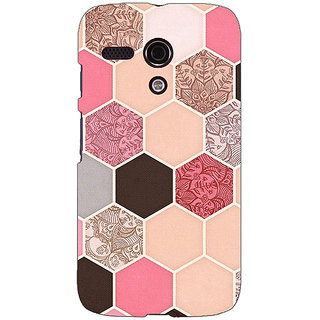 EYP Pink Hexagons Pattern Back Cover Case For Moto G (1st Gen) 130271