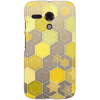 EYP Yellow Hexagons Pattern Back Cover Case For Moto G (1st Gen) 130273