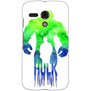 EYP Superheroes Hulk Back Cover Case For Moto G (1st Gen) 130325