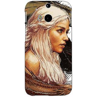 EYP Game Of Thrones GOT Khaleesi Daenerys Targaryen Back Cover Case For HTC One M8 Eye 331534