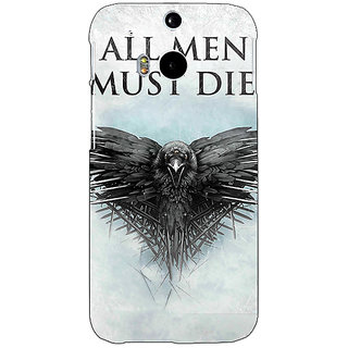 EYP Game Of Thrones GOT All Men Must Die Back Cover Case For HTC One M8 Eye 331556