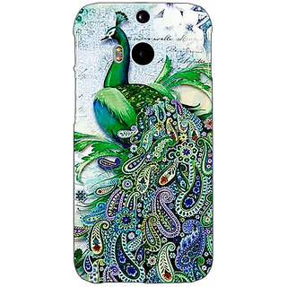 EYP Paisley Beautiful Peacock Back Cover Case For HTC One M8 Eye 331591