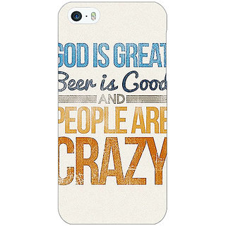 EYP Beer Quote Back Cover Case For Apple iPhone 5 21215